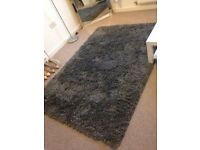 IKEA Gaser rug high pile dark grey