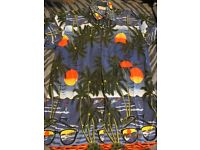 SHORT SLEEVED HAWAIIAN PATTERNED SHIRT SIZE L/XL FOR PARTY OR STAG DO