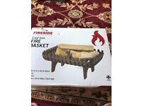 Fireside cast iron fire basket