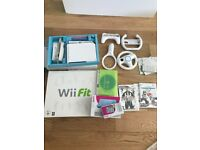 Wii fit console and games + various accessories