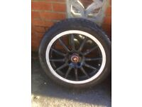 17 inch 4 stud alloys with tyres