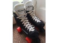 Pair of supreme turbo 33 classic roller skates, size 35-38