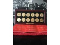 Gold plated coins arsenal cup winners