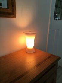 Vintage Pink Glass Table Lamp