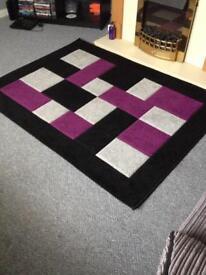 Gorgeous black/purple/grey rug