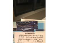 Best seats for 2 x Tickets Tennis Nitto ATP FINALS Sunday 19-11-17