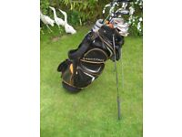 JOHN LETTERS GOLF CLUBS LEFT HAND IN PROSTAFF BAG