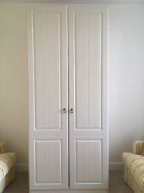 White panel wardrobe