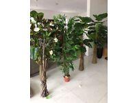 New 5ft artificial plants