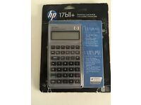 New HP 17bII+ Business / Financial Calculator (w/Free Delivery*) w/ Leather Case