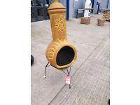 Terracota chiminea, garden heater, patio heater, wood burner