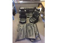 [Simmons BMW Livingston] BMW E36 3 Series Black Leather Seats Interior - camper - also E46 & E38