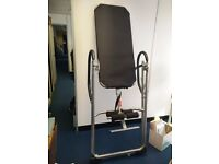Inversion table ideal for the treatment of back problems and prevents back pain and muscle tension.