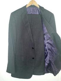 """Savoy Taylors Guild 2 Piece Stripe Suit 36""""/91cm Reg"""