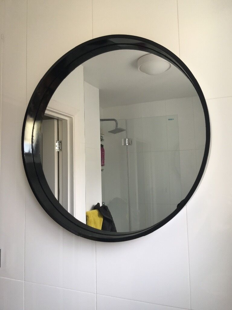 New Habitat Aimee Black Round Wall Mirror In Hove East