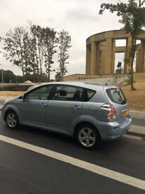 Toyota corolla verso 7 seater 1.8 petrol 12 mot