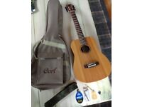 Cort Mini Earth OP Acoustic GUITAR as new