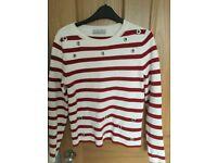 M and S Per Una Striped Jumper - Size 8