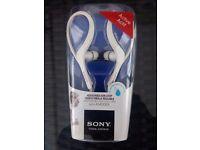 Sony earloop adjustable headphones , brand new , unopened , suit jogger or sportsperson .
