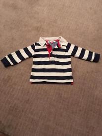John Lewis rugby shirt 0-3 months