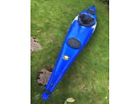 Venture Easky 13 kayak canoe with spray deck and paddle