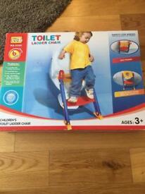 Toilet ladder chair