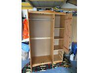3 door 3 drawer pine wardrobe