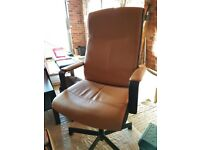 Black and Tan Faux Leather Office Chair