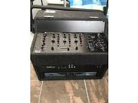 DJ Mixer & amp & CD player with Mic effects all in a rack box case.