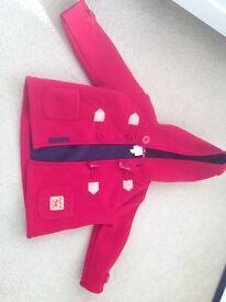 Jasper Conrad red duffle coat 6-9 month