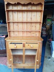 2 drawer , twin cupboard Pine Dresser