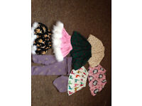 Baby Girls CHRISTMAS Handmade Skirts Bundle 6-9months NEW will post out