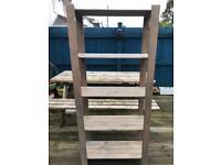 Light Blue Wood Shelf Unit Freestanding