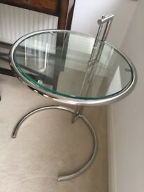 Modern Glass and chrome side coffee table