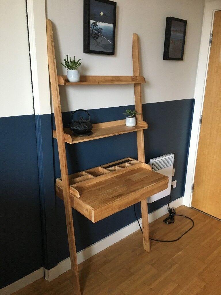 Futon Company Oak Leaning Ladder Desk