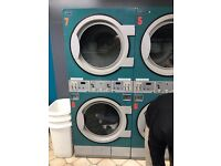Commercial double stacker Electrolux tumble dryers