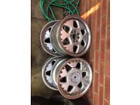 3 sets of alloy wheels.