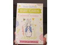 New Peter Rabbit baby cards for milestone moments