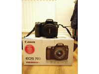 Nearly new Canon 70D + 17-70 Sigma f2.8 lens + Canon 55-250 STM lens ***URGENT SALE***