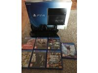 PS4 2xcontrolers cooling unit 7 games