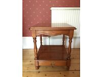 Cherry wood side tables X 2
