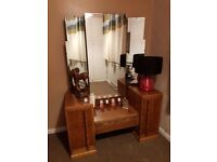 Solid wood dressing table in mint condition