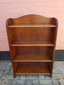 Old Solid Oak Bookcase