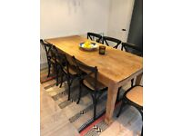Large Rustic Authentic Pine Farmhouse Dining Table.