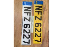 NFZ 6227 private cherished personalised personal registration plate number