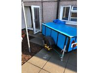 Brand new rebuild big trailer with lid all brand new tyres and underneath must be seen