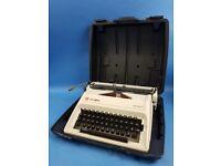 Vintage Olympia Manual Portable Typewriter Carina 2 Model + Hard Case Retro Chic
