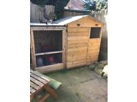 Large rabbit chicken dog house and run