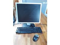 Dell 19 inch monitor, keyboard and mouse