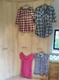 4 Spring Maternity tops Size 10/12